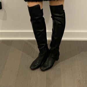 Nine West Over-the-knee Black Leather Boots